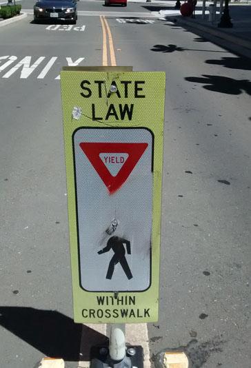Pedestrian cross walk