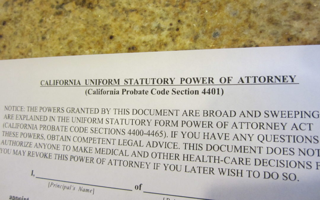California Divorce and Powers of Attorney